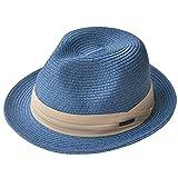 (エッジシティー)EdgeCity 折りたたみ可能! 大きいサイズ 大きい メンズ レディース 麦わら帽子 ストローハット 000319-0000 (3S/52cm, 17/ネイビー2【単色】)