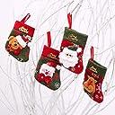 Anyasun クリスマス 靴下 ツリー飾り クリスマス ソックス かわいい 4点セット クリスマス プレゼント 袋 靴下 クリスマス ブーツ お菓子入り ギフトバッグ クリスマスツリー 飾り 装飾 デコレーション Ays-SDJ001
