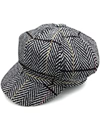 Takiloy キャスケット ハンチング帽 ミックス ウール チェック 欧米風 フリーサイズ 帽子 レディース キャスケット オシャレ 小顔効果抜群 女の子 キャップ UVカット (全3色)