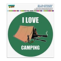 私はキャンプを愛する狙撃兵シューティングゲームゲーマー自動車用車窓ロッカーサークルバンパーステッカー