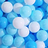 PlayMaty Play Ball Pit Balls - 2.16inches Plastic Ocean Colourful Balls of 100 Balls for BabysToddlers and for Kids Playhouse