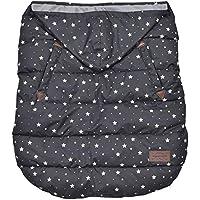 wipcream ウィップクリーム フットマフ 2way ベビーウォーマー 抱っこ紐 ベビーカー WC-BW0015 (black star dot)