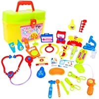 Dovewill プラスチック製 子供 クリスマス 贈り物 お医者さん ごっこ遊び ロールプレイ おもちゃ 全30個
