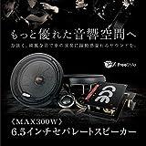 2Wayセパレートスピーカー ツイーター セット 200W 埋め込み 6.5インチ 黒