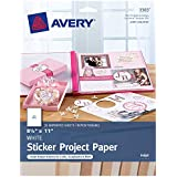 Avery Astrobrights Color Easy Peel Full-Sheet Labels 20 Sheets White
