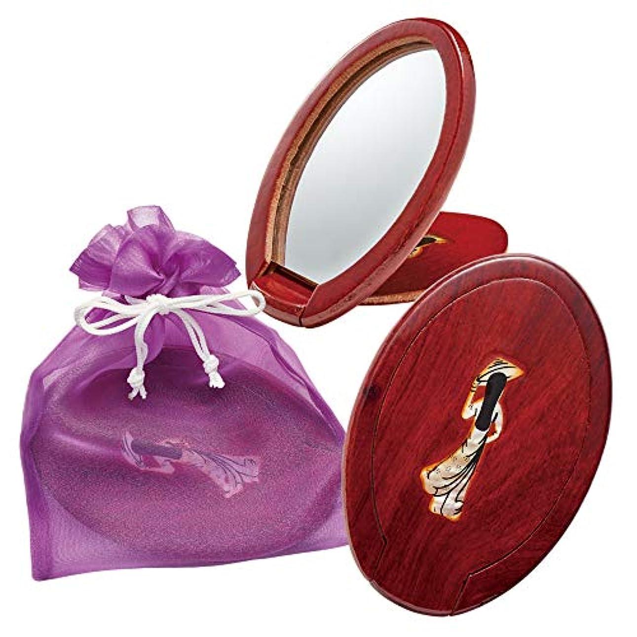 経験者連邦部ベトナムお土産 ベトナム手鏡 巾着入り 3個セット
