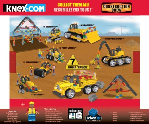 『K'NEX Collect and Build Construction Series #2: Dump Truck [並行輸入品]』の1枚目の画像