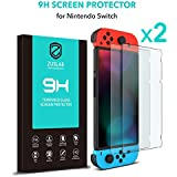 [2 Pack] ZUSLAB Tempered Glass Screen Protector HD Clear Anti-Scratch for Nintendo Switch
