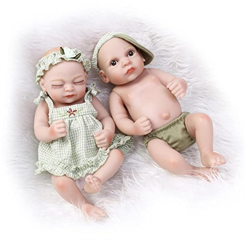 NPKDOLL アクリルアイズとリボーンベビードールハードシミュレーションシリコーンビニール10インチの26センチメートル防水バス児童玩具プレゼントグリーンサンシャインボーイ?ガール Reborn Baby Doll A1JP