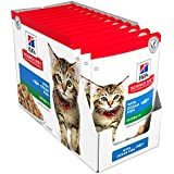 Hill's Science Diet Kitten Ocean Fish Wet Cat Food Pouches, 85g, 12 Pack