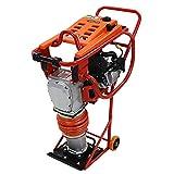 ランマー Honda GX160内蔵 4ストロークエンジン 5.5馬力 重量73kg 台車付き 建設機械 ランマ 転圧機 転圧機械 エンジン式 4サイクル 工事現場 舗装工事 振動 締め固め 機械 ホンダ 土木 建設 ガソリン 運搬用台車付き 移動 rammerr72