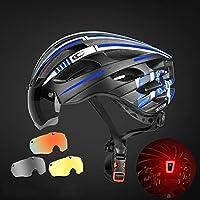 サイクリングヘルメットマウンテンバイクゴーグルメガネずっと自転車ヘルメット近視自転車機器軽量ヘルメット 耐衝撃性 (色 : Gray+Yellow+color)