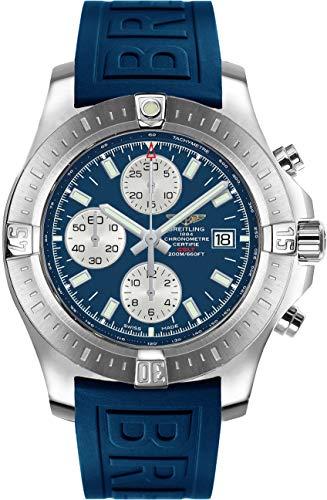 Breitlingコルトクロノグラフ自動ブルーダイヤル&ストラップメンズ腕時計a1338811/c914–157s