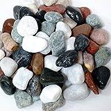 [砂利 玉砂利 30kg]お庭にぴったりとっても綺麗な5色ミックスカラー化粧玉石pe01【10月3日発売分】