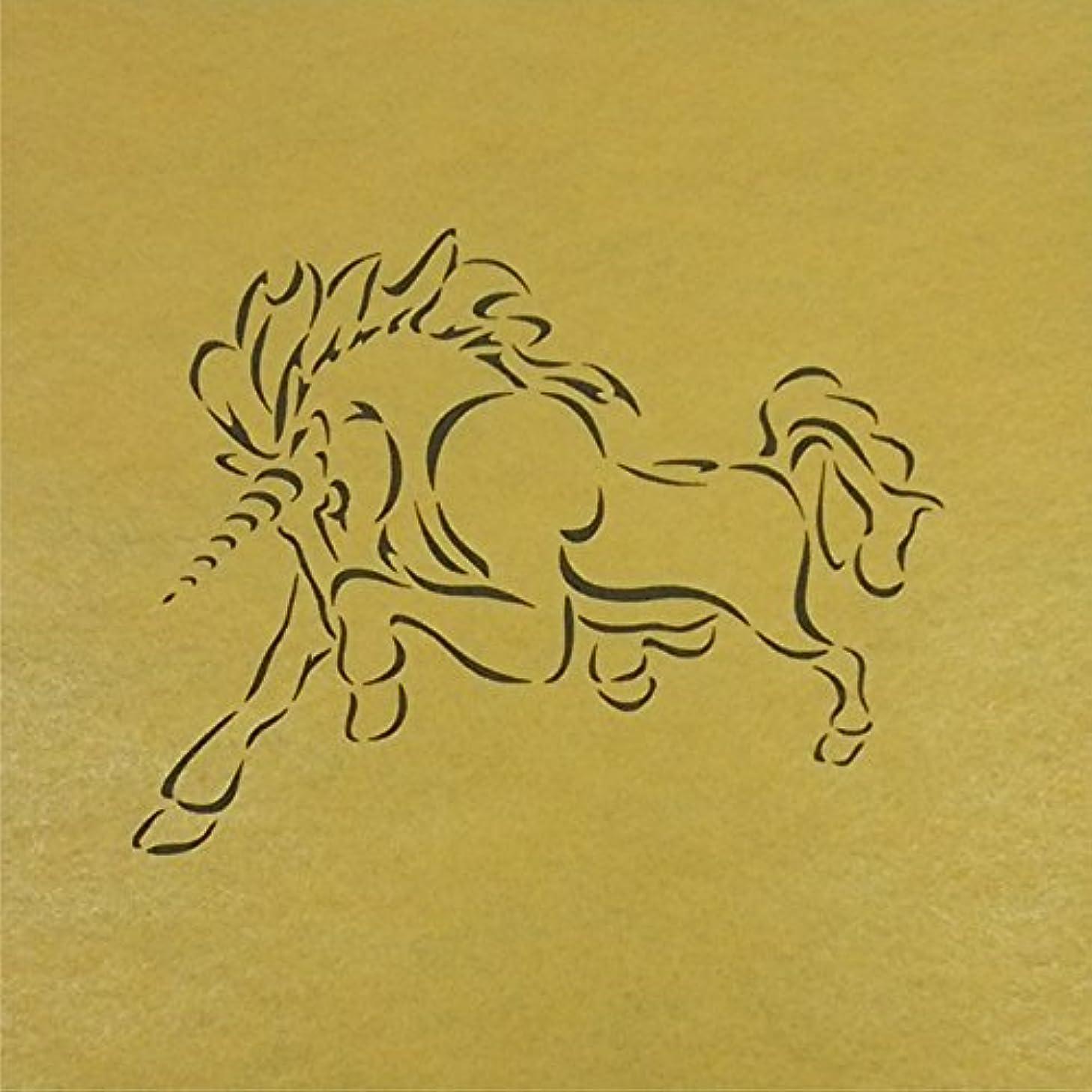 過敏な冷蔵する泥ステンシルシート ユニコーン 天馬 3サイズ型紙  (30cm)