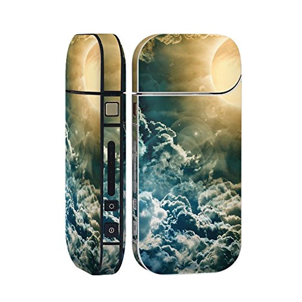 入口却下する奇跡スマコレ IQOS 2.4 Plus 専用 シール 全面 ケース おしゃれ 全面ケース 保護 ステッカー デコ アクセサリー デザイン 写真?風景 写真 太陽 空 005977
