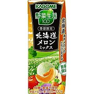 カゴメ 野菜生活100 プレミアム 北海道メロンミックス リーフパック 195ml×24本