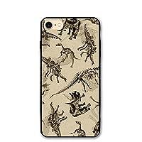 IPhone8 ケース 恐竜 動物 アイフォン8 4.7インチ おしゃれ 薄型 超軽量 指紋防止 高耐久性 スマホカバー 保護カバー