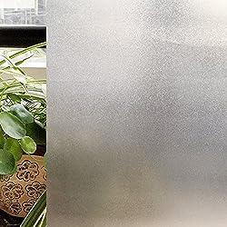 CottonColors(コットンカラーズ) 窓用フィルム 目隠しフィルム 断熱シート 粘着剤なし 再利用可能 紫外線カット 44.5x200cm [スリガラス023]