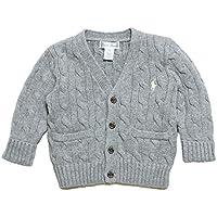 (ポロ ラルフローレン)POLO RALPH LAUREN ベビー Baby 男の子 セーター カーディガン Cable-Knit Cotton Cardigan アンドーバーヘザー Andover Heather (6M) [並行輸入品]