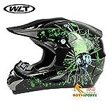 バイクヘルメット オフロード 軽量ヘルメット モンスターエナジー ゴーグル付き[注射筒・黒/L]