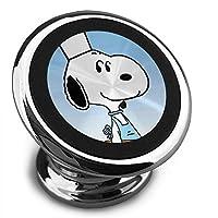 スヌーピー 磁気電話カーホルダー、360°調整可能な携帯電話クレードル、スタイリッシュで耐久性