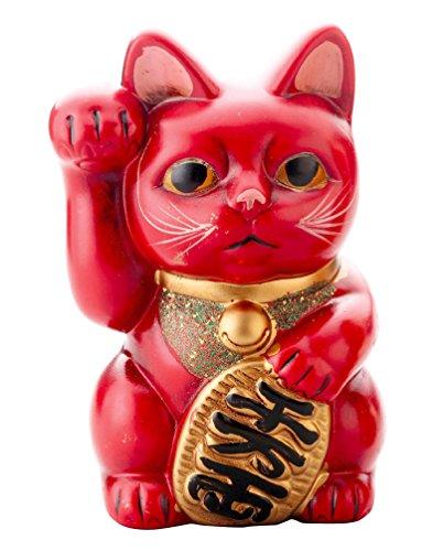 レトロ 招猫(赤)626 K5292