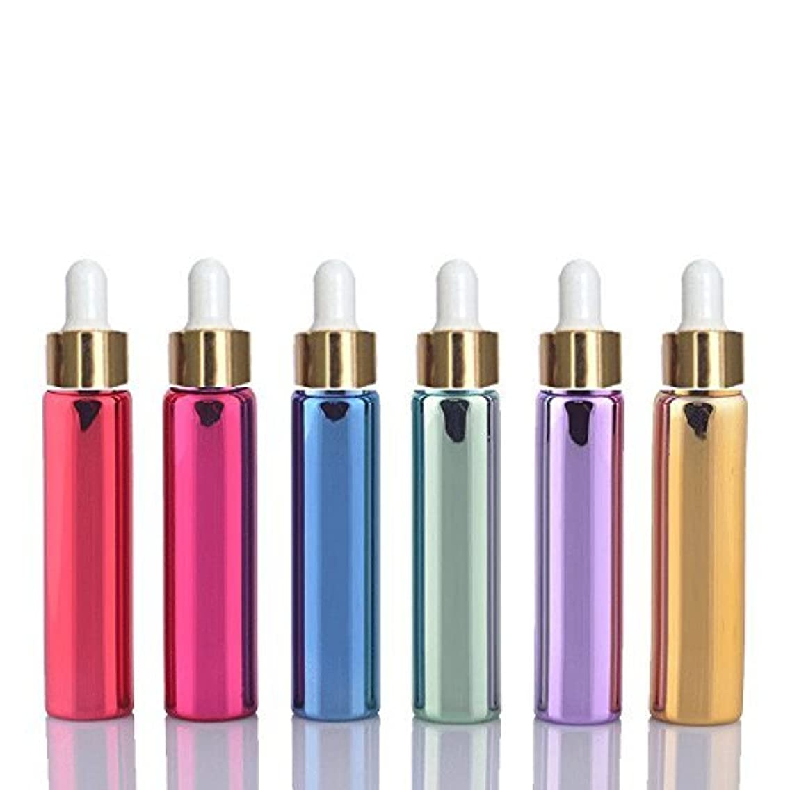 対象不信の6 Sets Assorted 10ml UV Coated Glass Dropper Bottles Grand Parfums Refillable Dropper Bottles with Glass Pipette...