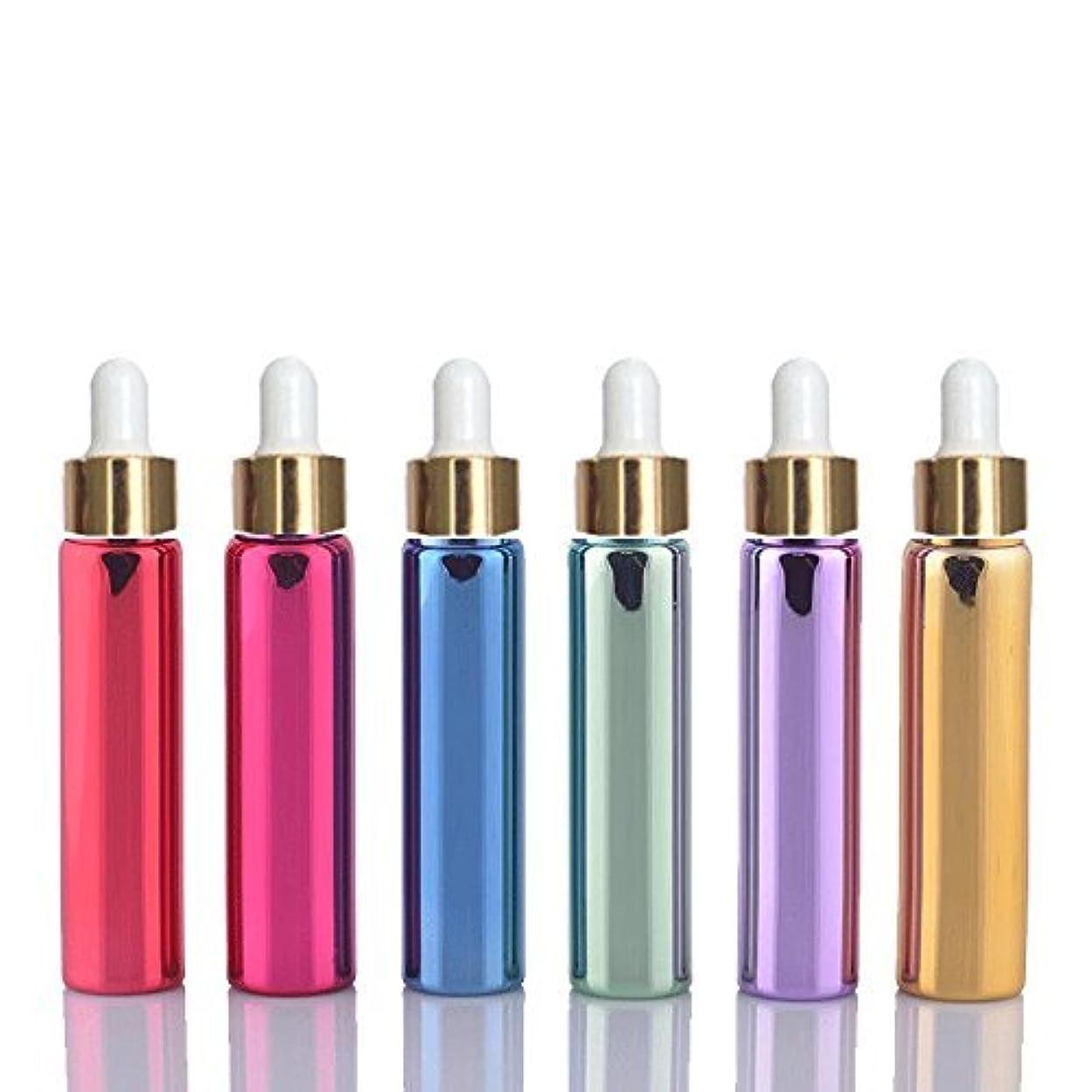 一目対応参照する6 Sets Assorted 10ml UV Coated Glass Dropper Bottles Grand Parfums Refillable Dropper Bottles with Glass Pipette...