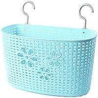 33 CM多目的プラスチック貯蔵バスケット家庭用オーガナイザー、青い花