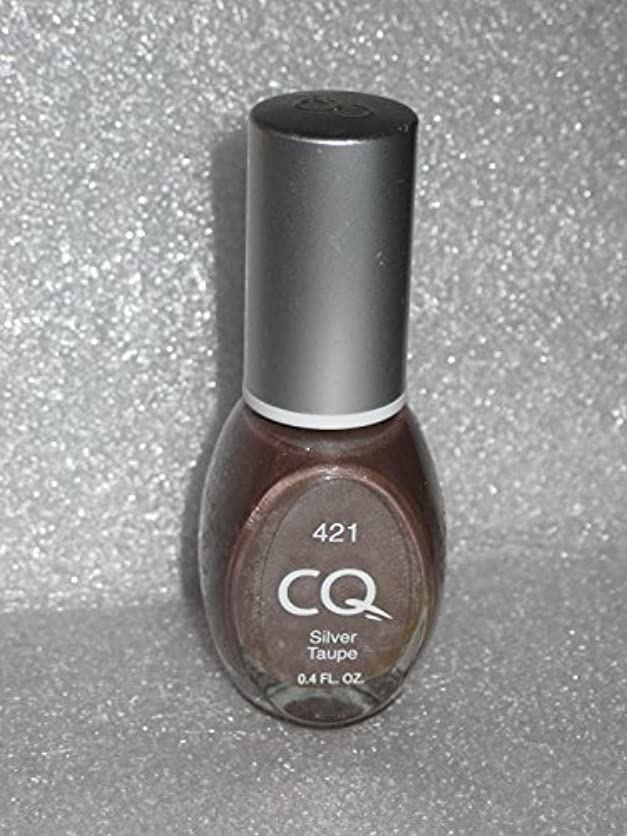 CQ BY SCHERER NAIL POLISH #421 SILVER TAUPE