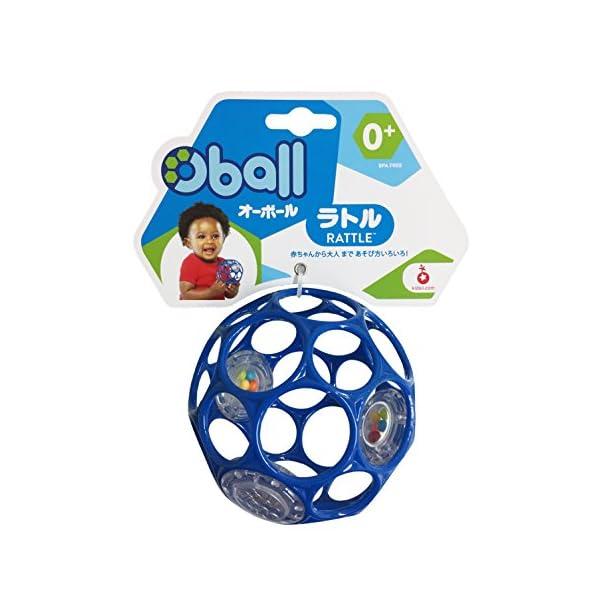 Oball オーボール ラトル ブルー (81...の紹介画像2