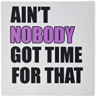 3drose LLC 8x 8x 0.25インチマウスパッド、Ain ' t Nobody Got Time For Thatピンク(MP 157411_ 1) [並行輸入品]