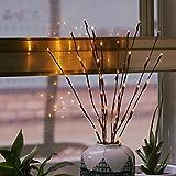 highpot LED Willow Branchブランチホームクリスマスパーティー庭装飾20LEDライトライトバッテリーPowered装飾ライトウィローの枝のライト付き