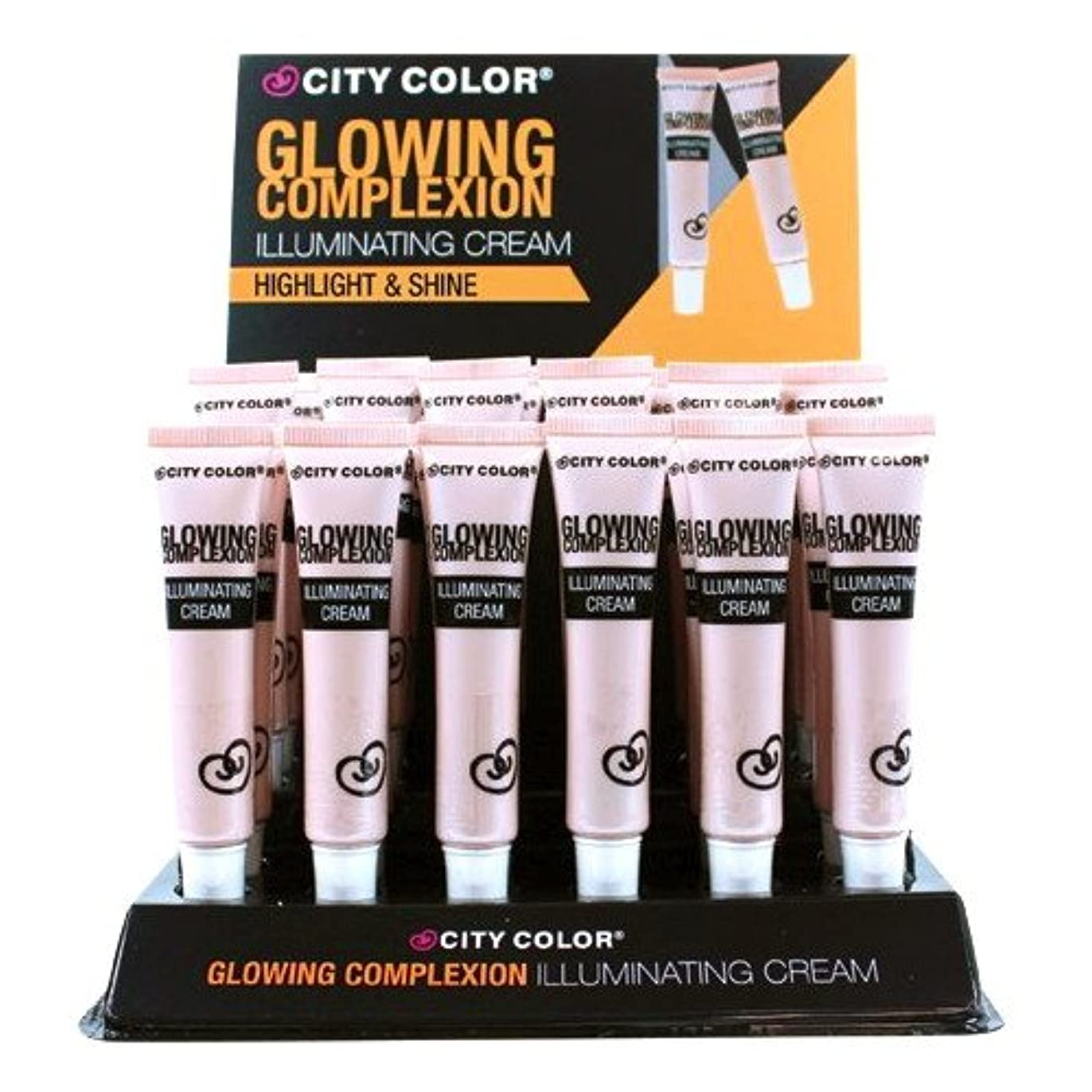 悪意である天井CITY COLOR Glowing Complexion Illuminating Cream Luminous Dewy Glow Display Case Set 24 Pieces (並行輸入品)