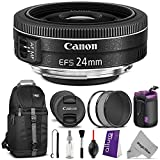 Canon EF-S 24mm f/2.8 STM Lens w/ Essential Bundle - Includes: Camera Sling Backpack, Altura Photo UV-CPL-ND4, Neoprene Lens P..