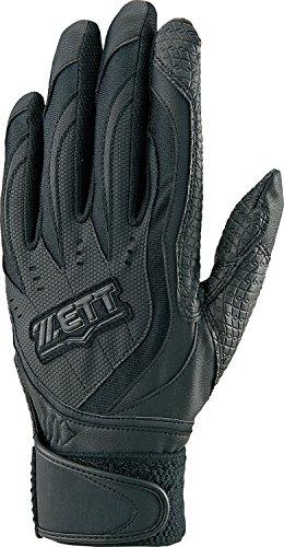 ZETT(ゼット) 高校野球ルール対応 バッティンググローブ インパクトゼット (右手用) BG197HS ブラック Mサイズ