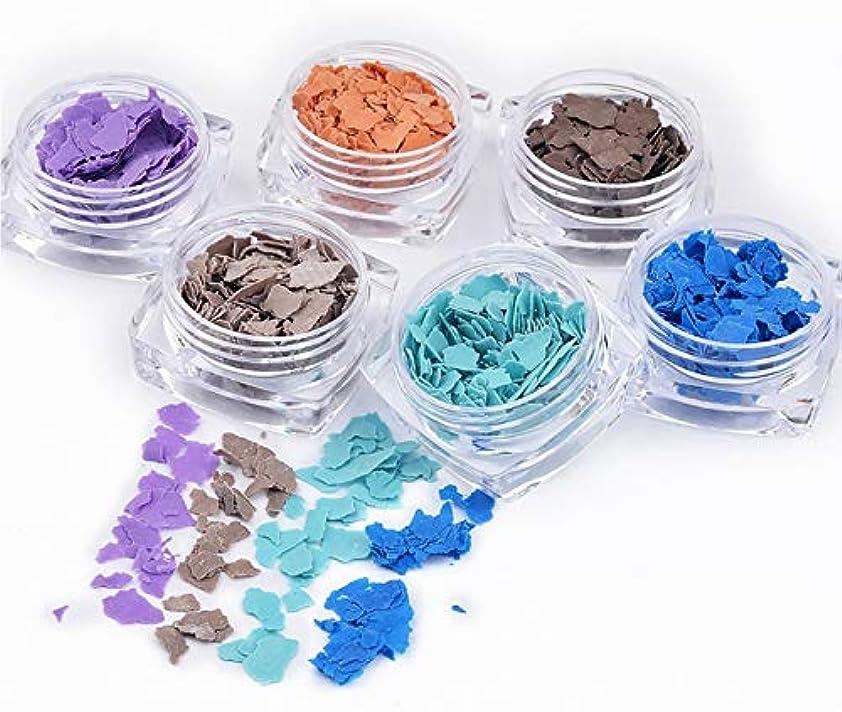 分離する路地怠なTianmey マイカフィルム花ミネラルフレークスライス3DネイルアートDIYデコレーションネイルズ錠ネイルデカールステッカー (Color : Blue set)