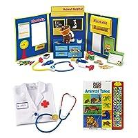 Learning Resources ごっこ遊び お医者さんごっこセット 動物病院と動物話の宝物 教育玩具 インタラクティブな想像力豊かな幼児