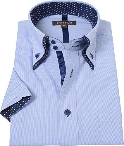 シャツスタイル(shirt style)ワイシャツ 半袖 ストライプ サイズ/S M L LL 3L/ysh-6003