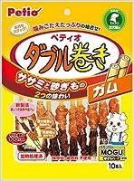 【1ケース納品】 ヤマヒサ ペティオ ササミ+チキンガムMOGU砂ぎもハード ダブル巻き ガム 10本 ×30個入