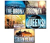 New York Cityはがき:セットof 40。8の各The Bronx、ブルックリン、Manhattan、Staten Island and yaaaas Queens 。Made In NYC