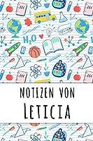 Notizen von Leticia: Liniertes Notizbuch fuer deinen personalisierten Vornamen