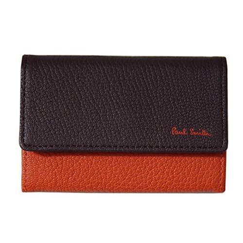 ポールスミス PaulSmith 名刺入れ ビジネス カードケース オレンジ×ブラウン 本革 C13380 新品正規品