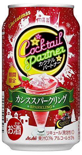 【季節限定】カクテルパートナー期間限定クリスマスカシススパークリング缶 350ml×24本