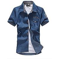 [アルファーフープ] シャツ 半袖 アメカジファッション メンズ a32