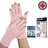 ピンクレディース関節炎手袋を開発した医師/圧縮手袋と手帳を書いた医師 (指先を開く, 中)