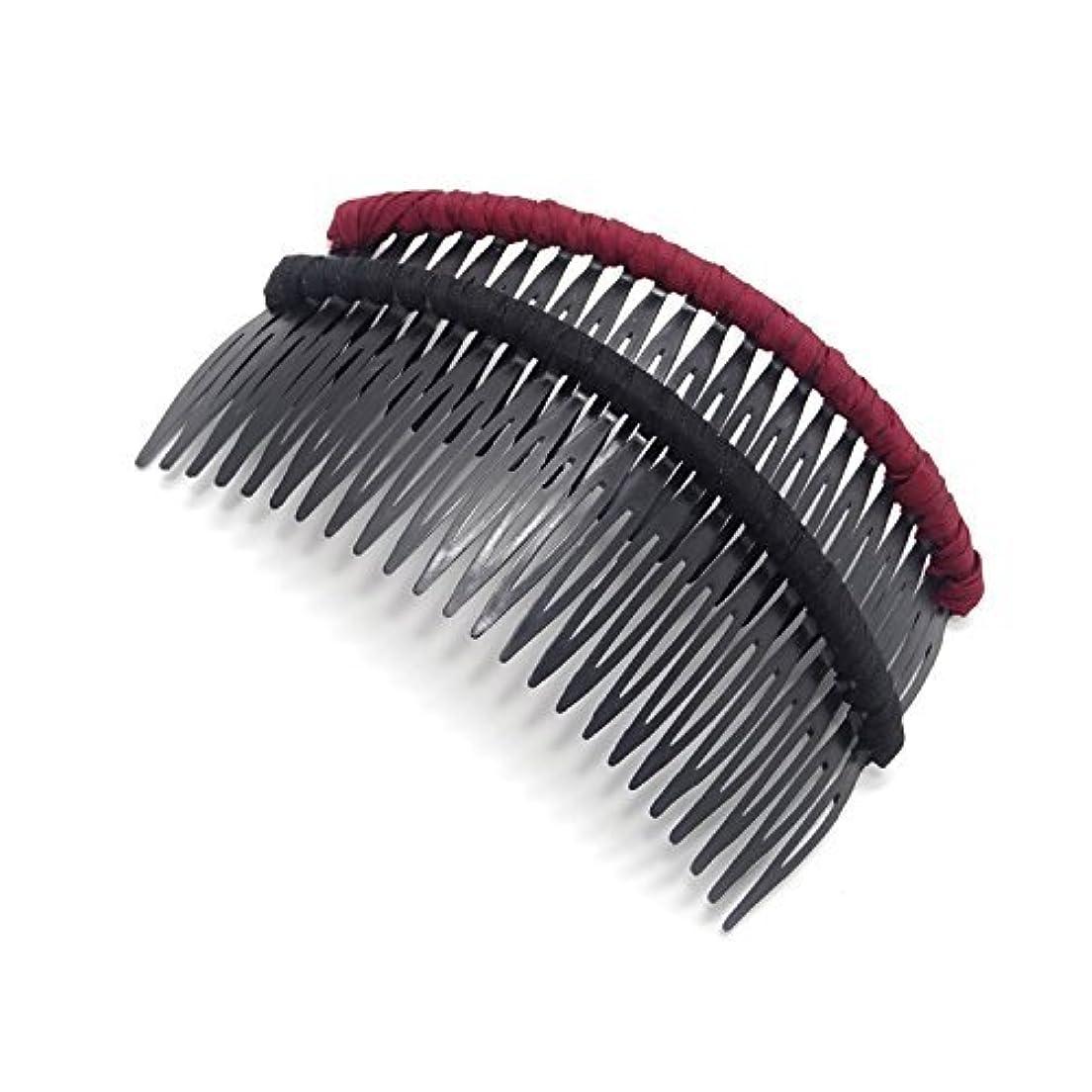 透過性ジョガーHonbay 2 PCS Different Color 24 Teeth Plastic Hair Comb Tuck Comb Hair Clip Hair Accessory for Women and Girls...
