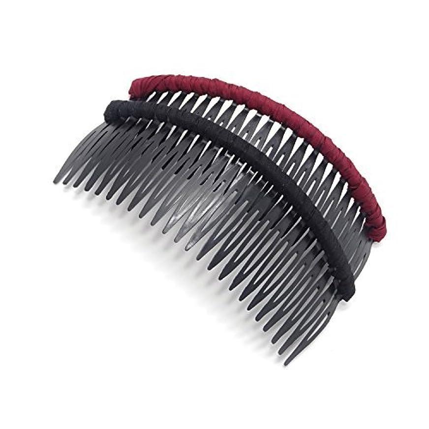 指そよ風浪費Honbay 2 PCS Different Color 24 Teeth Plastic Hair Comb Tuck Comb Hair Clip Hair Accessory for Women and Girls...