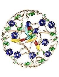 Ruikey かわいい 鳥のブローチピン お花のデザイン ブローチ 誕生日 記念日 卒業式 プレゼント